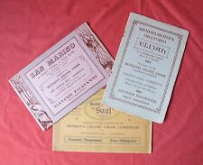 BETHANIA CHAPEL CHOIR GOWERTON SWANSEA 3 SOUVENIR PROGRAMMES 1937, 1938 and 1939