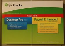 Intuit QuickBooks Desktop Pro 2017 Payroll Enhanced Value Pack Brand New