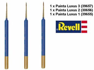 Revell Painta Luxus Sable Marten Brushes Set 1 Modelling Paint Brushes Set