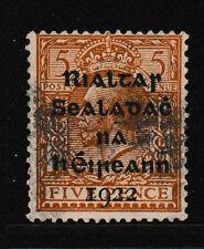 IRELAND, Scott #6: 5d, Used, 1922 Dollard Overprint in Black