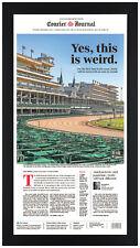 """2020 Louisville Kentucky Derby """"Yes, this is wierd"""" Framed Newspaper Print Sep 5"""