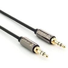 2m Audio Kabel Klinkenkabel AUX Klinke 3,5 mm - Stereo Stecker für Handy Auto TV