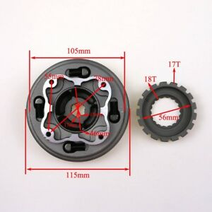Manual Clutch Assembly for 70cc 110cc 125cc Chinese Dirt Pit Bike Lifan 17T SSR