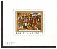 39055) Romania 1969 MNH Paintings S/S Bernardino Licino