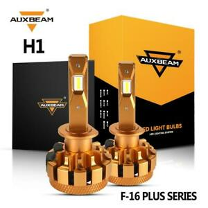 AUXBEAM F-16 Plus H1 LED Headlight Bulb+Decoder Canbus 7000LM 6000K White Bright
