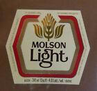 VINTAGE CANADIAN BEER LABEL - MOLSON BREWERY, LIGHT BEER 12 FL OZ #2