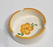 Aschenbecher gelb Blume vintage altmodisch Keramik Ascher Landhaus shabby retro