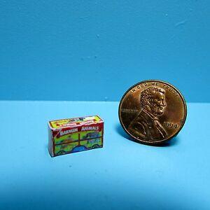 Dollhouse Miniature Detailed Replica Barnum Animals Crackers Box  G002