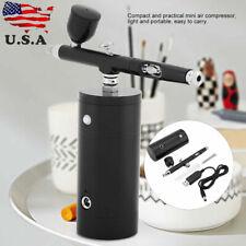 0.3mm Airbrush Mini Air Compressor Kit Spray Air Brush Gun 7CC Capacity US STOCK