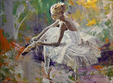 Original Painting by American Artist Rukie Jackson /Ballerina #RK-0367AC19