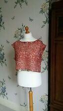 Waist Length Paisley Sleeveless Tops & Shirts for Women