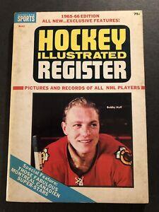 1965 66 Hockey Register CHICAGO BLACKHAWKS Detroit Red Wings ROGER CROZIER