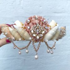 Rose Gold Diamond Pearl Sea Shell Mermaid Crown Hair Head Band Choochie Choo