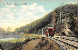 H70/ Pine Run Pennsylvania Postcard c1910 PHB&NC Railway Trolley Tracks 63