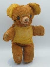 Baby Teddy Bear Rubber nose Stuffed toy 9 inch 1950s gold Fur Well loved cute