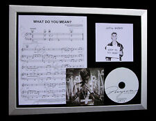 JUSTIN BIEBER What Do You Mean TOP QUALITY CD FRAMED DISPLAY+EXPRESS GLOBAL SHIP