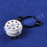 10pc 8 Pin EL34 6550 6SN7 CMC Ceramic Gold Tube Socket