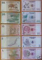 Congo Banknotes Set of 5 Pieces UNC