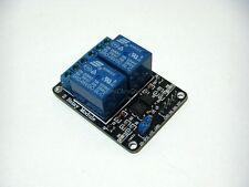Scheda 5V DC 2 relè, relais, relay, Arduino, microcontroller, pic, avr, 250V-10A
