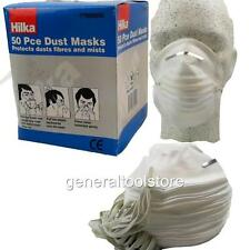 HILKA 50 PIECE DUST MASK SET. PROTECTION FROM DUST FIBRES AND MISTS CE MARKED