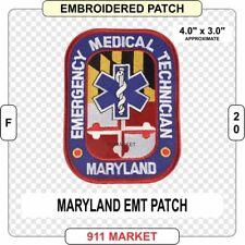 Maryland EMT Patch EMS Medic Emergency MD State Medical Service Paramedic- F 20