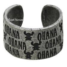 Disney Lilo & Stitch Hawaii OHANA Costume Ring Burnished Silver Tone Size 7 NWT