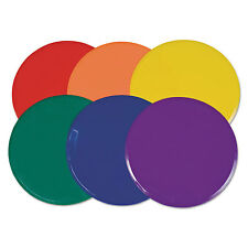 """Champion Sports Extra Large Poly Marker Set 12"""" Diameter Assorted Colors 6 Spots"""