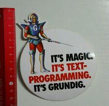 Autocollant/sticker: Grundig it 's Magic (08041690)