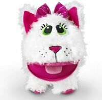 Baby Stuffies Whisper The Cat Stuffed Animal Plush Toy Storage Pockets Zipper