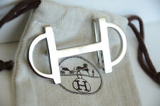 HERMÈS 32MM Belt Buckle SILVER with pouch