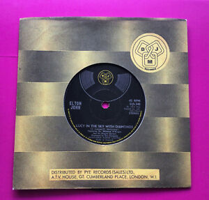"""A418 Lucy In The Sky With Diamonds Elton John, 7""""Single Very Good Plus Condition"""