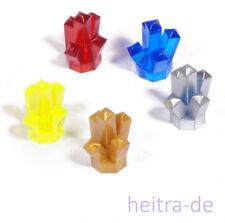 LEGO - 5 x Kristall 1x1 mit 5 Zacken in 5 Farben / Crystal / 52 NEUWARE