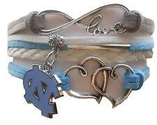 North Carolina Tar Heels College Infinity Hearts Bracelet Jewelry Apparel