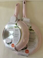 Pink Fry Pans Skillets Nonstick Ceramic Set Of Two 8 And 11 Inches New