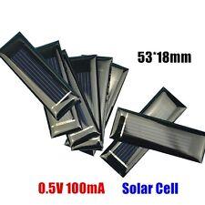 5pcs Mini Solar Panel New 0.5V 100mA Solar Cells Photovoltaic panels NEW K9