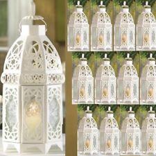 "Lot 10 Enchanting 12"" White Lantern Candleholder Wedding centerpieces"