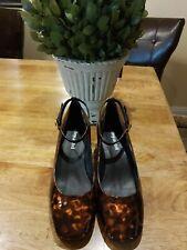 Jeffrey Campbell Blaire Tortoise Patent Leather Pump - Crystal Heel Size 6.5 M💜