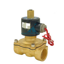 """220V AC G3/4"""" N/O Brass Electric Solenoid Valve Water Gas Air Normally Open Type"""