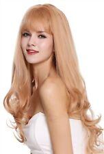 Perruque pour Femme Frange Long Lisse Affiler Bouclé Blonde Aschlond Fraise Mix