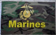 3' X 5' Us/U.S./Usmc Camo Marine Flag 3X5 New