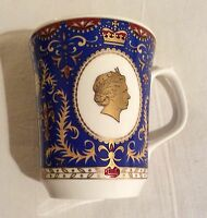 WADE RINGTONS gilded china Commemorative Mug QUEEN ELIZABETH II 80th BIRTHDAY