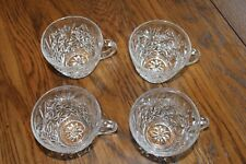 Set of 4 Anchor Hocking Arlington Pattern Punch Bowl cups