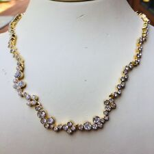 Vintage Swarovski Gold and Crystal Necklace With Extender