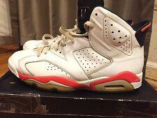 2014 Mens Nike Air Jordan VI 6 Retro Infrared White Black Size 12 Used Rare