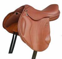 "18"" English Close Contact Leather Saddle Perfect Size"