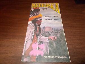 1974 Nebraska State-issued Vintage Road Map