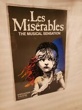 Vintage 1986 Les Miserables Broadway Theatre Musical Poster Window Card