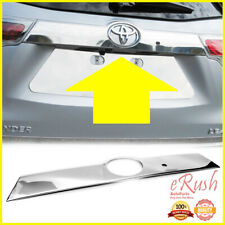 FOR 2014-2019 TOYOTA HIGHLANDER REAR TRUNK TAIL GATE CHROME TRIM WITH SMART KEY