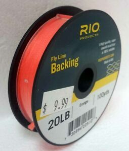 RIO 20 LB 100 YARD SPOOL OF DACRON BACKING IN ORANGE FLY LINE & REEL BACKING