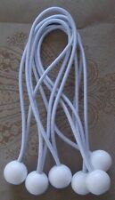 """6 9"""" White Ball Bungees Cord Strap Tie Down Tent Tarp Canopy Farm Truck Hunting"""